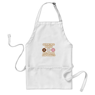 Geriatric Nurse Will Work For Donuts Aprons