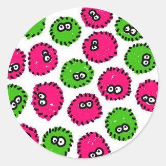 Germ Invasion Classic Round Sticker