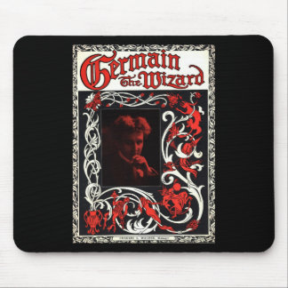 Germain the Wizard Vintage Magician Advertisement Mouse Pad