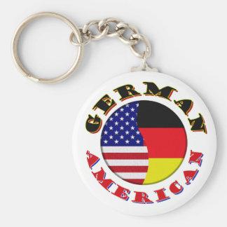 german american basic round button keychain