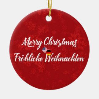 German American Bilingual Holiday Decoration