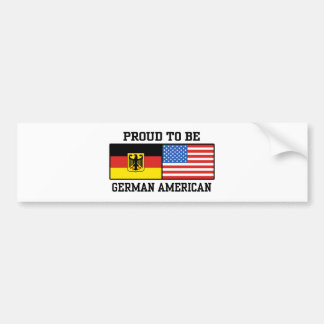 German American Bumper Sticker