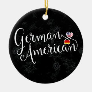 German American Hearts Christmas Tree Ornament