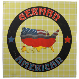 German American Map Napkins