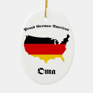 German American Oma - Granny - Grandmother Ceramic Ornament