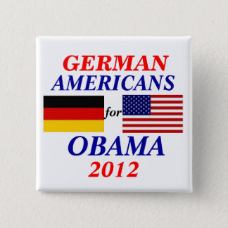 German americans for Obama 2 Inch Square Button