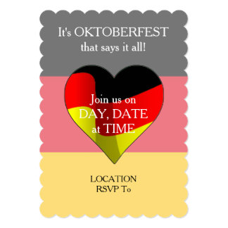 German At Heart Oktoberfest Party Invitation