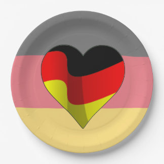 German At Heart Oktoberfest Party Paper Plates 9 Inch Paper Plate