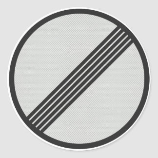 German Autobahn 'No speed restrictions' sticker