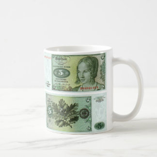 German Banknote 5 Marks Coffee Mug