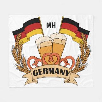 German Beer custom monogram fleece blankets