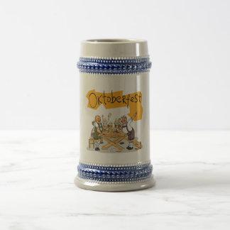 German Beer Gray/Blue 22 oz Stein