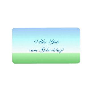 German Birthday Green Blue Label