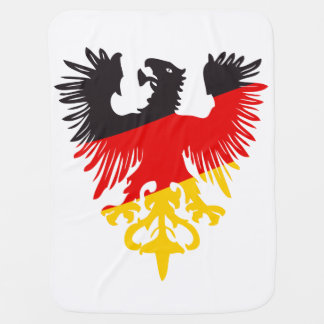 German Black Eagle Baby Blanket