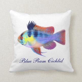 German Blue Ram Cichlid Fish Pillow