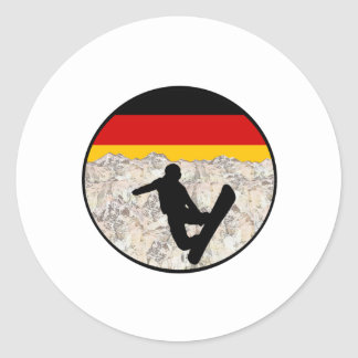 German Boarders Classic Round Sticker