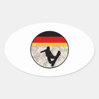 German Boarders Oval Sticker