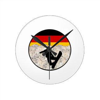German Boarders Round Clock