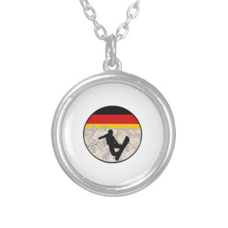 German Boarders Silver Plated Necklace