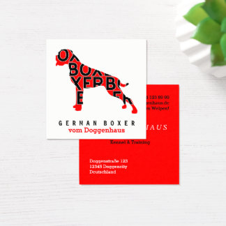 German Boxer Business Cards