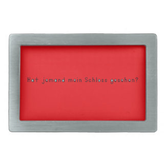 German -Castle Rectangular Belt Buckle