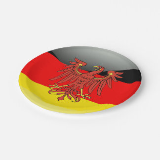 German Coat of arms 7 Inch Paper Plate
