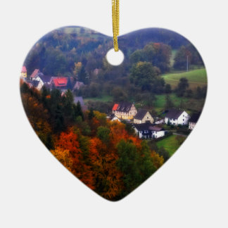 German Countryside in the fall Ceramic Ornament