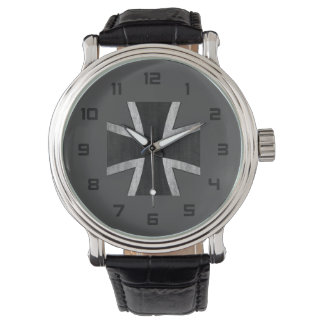 German Cross emblem watch