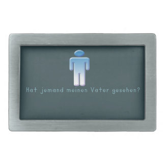 German -Daddy Rectangular Belt Buckles