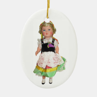 German Doll Ceramic Ornament