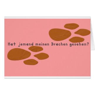 German -Dragon Card