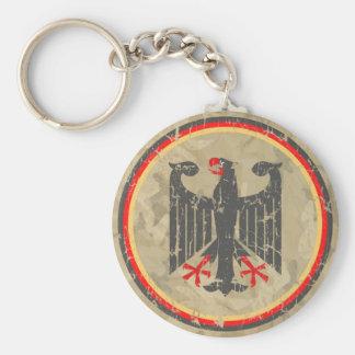 German Eagle Basic Round Button Keychain