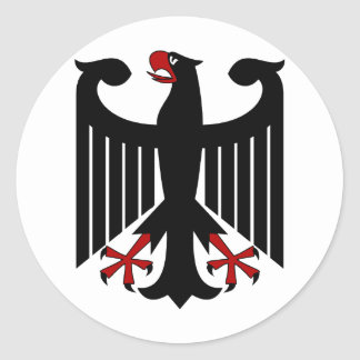 German Eagle Classic Round Sticker