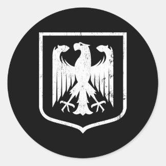 German Eagle - Deutschland coat of arms Round Sticker
