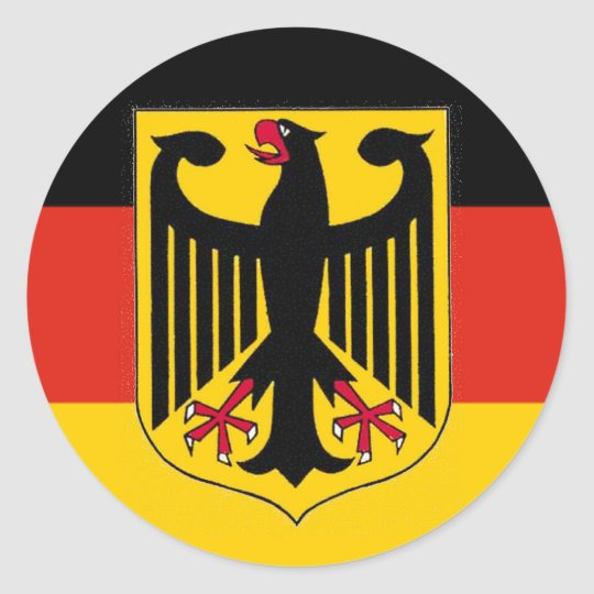 German Eagle Flag Classic Round Sticker   Zazzle.ca