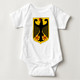 German Eagle on Yellow Shield Baby Bodysuit