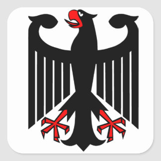 German Eagle Square Sticker