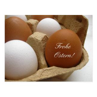 german easter egg greeting postcards