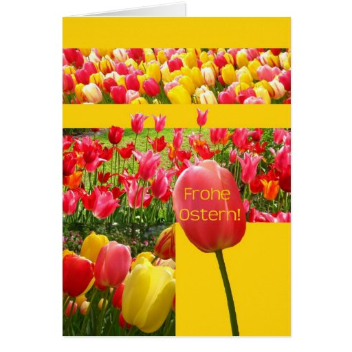 German Easter Tulips Cards