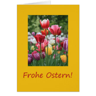 German Easter Tulips Greeting Cards