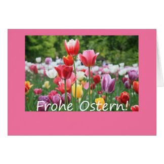 German Easter Tulips Greeting Card