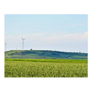 German Field Using Sustainable Energy Postcard