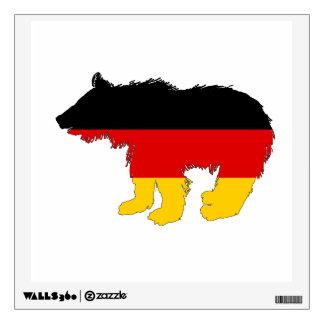 German Flag - Bear Cub Wall Sticker