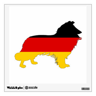 German Flag - Border Collie Wall Sticker