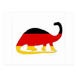 German Flag - Brontosaurus Postcard