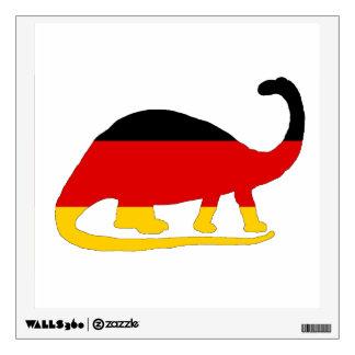 German Flag - Brontosaurus Wall Decal