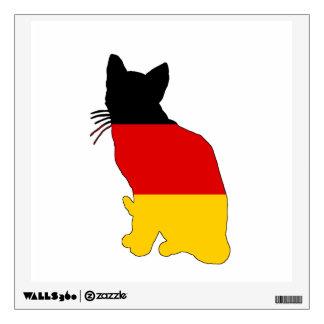 German Flag - Cat Wall Sticker