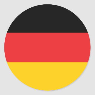 German flag classic round sticker