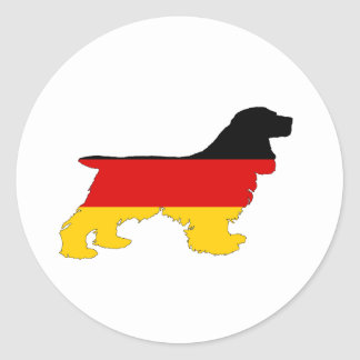 German Flag - Cocker Spaniel Round Sticker