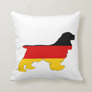 German Flag - Cocker Spaniel Throw Pillow